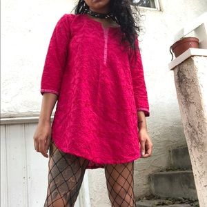 Tops - Embroidered Cotton Kurti Top